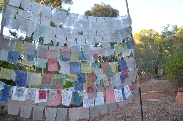 Buddhist Prayer flags at Coorain, Balingup, Western Australia